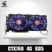 Video Card Veineda Graphic Card GTX 760 4G GDDR5 256Bit DVI HDMI InstantKill GTX 1050 GTX950