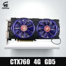 Grafikkarte Veineda grafikkarte GTX 760 4G GDDR5 256Bit DVI HDMI InstantKill GTX 1050, GTX950 für nVIDIA Geforce gaming