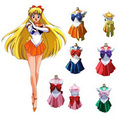 7 estilos sailor moon cosplay uniforme fancy dress up sango minako & sailor netuno & mars marinheiro conjunto completo battleframe