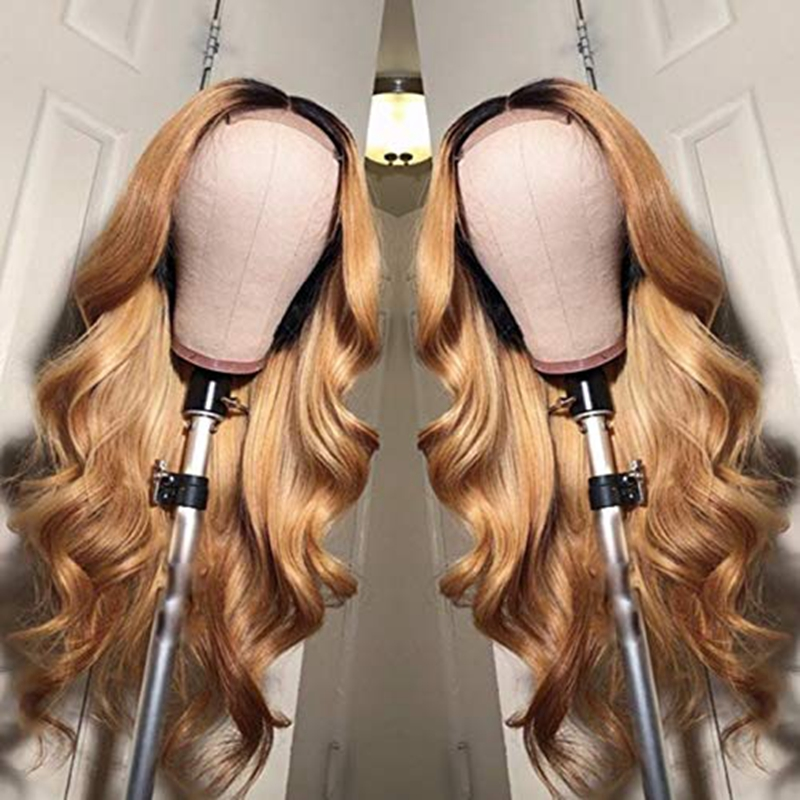Image 3 - 1B/27 Lace Front Human Hair Wigs With Baby Hair Wavy Pre Plucked Ombre Color Brazilian Blonde Hair Wigs For Women Bleach Knots-in Human Hair Lace Wigs from Hair Extensions & Wigs