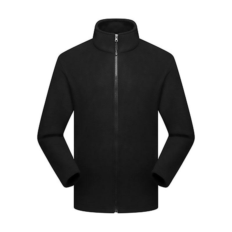 Men Winter Outdoor Soft Fleece Coat Top Windbreaker Breathable Windproof Warm Classic Fit Hiking Clothing LB