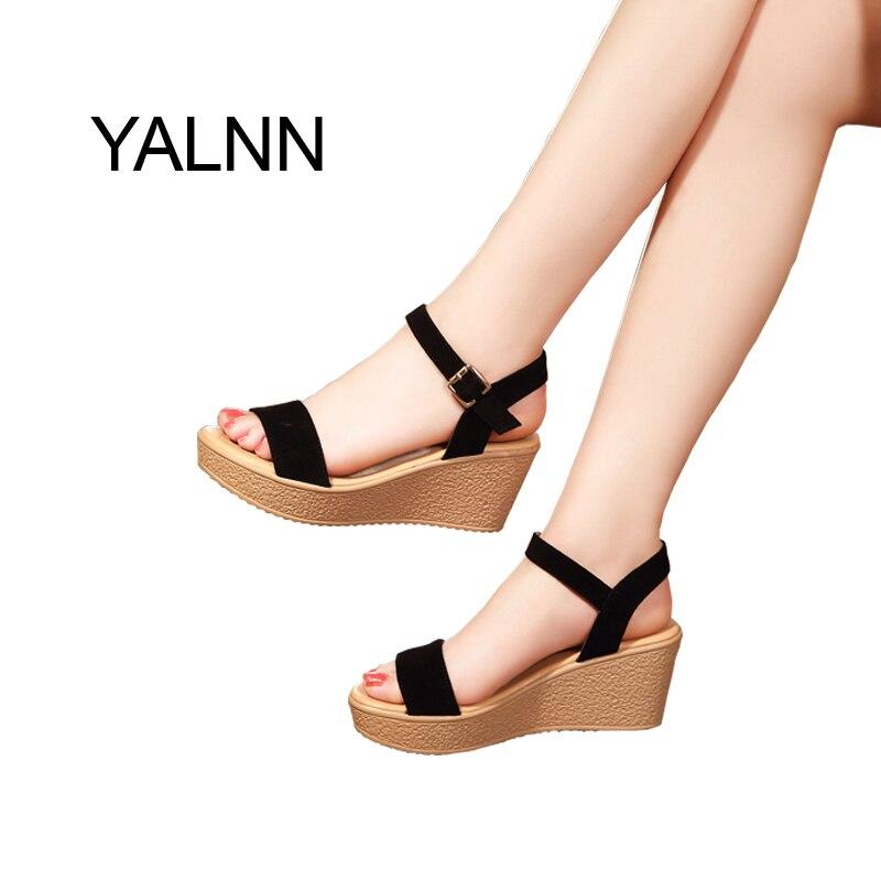 De Yalnn Noir Femmes Talon Rose Couverture Sandales Chaussures cj35LqARS4