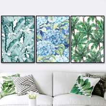 Watercolor Plant Flower Nordic Posters And Prints Wall Art Canvas Painting Pictures For Living Room Scandinavian Home Decor