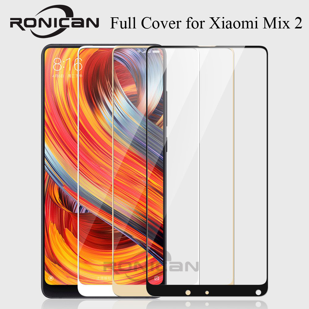 """Image 2 - Xiaomi Mi Mix 2 Glass Full Cover Tempered Glass For Xiaomi Mi Mix 2S 5.99"""" Screen Protector for Xiomi Mix 2s Protective Glass-in Phone Screen Protectors from Cellphones & Telecommunications"""