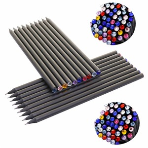 Image 3 - 10 pcs HB Diamond Color Pencil Black Refill Stationery Supplies Drawing Supplies Cute Wooden Pencil Wholesale