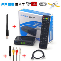 Genuine Freesat V7 HD DVB S2 Satellite Receiver Full 1080P AC3 Audio 2dbi USB WiFi