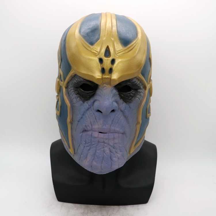 Thanos Infinity savaş eldiven maske Cosplay eldiven Avenger Infinity süper kahraman Avenger Thanos lateks eldiven cadılar bayramı partisi sahne
