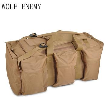 70L Large Capacity Men Military Tactics Backpack Multifunction Waterproof Oxford Hike Camp Backpacks Wear-resisting Outdoor Bags