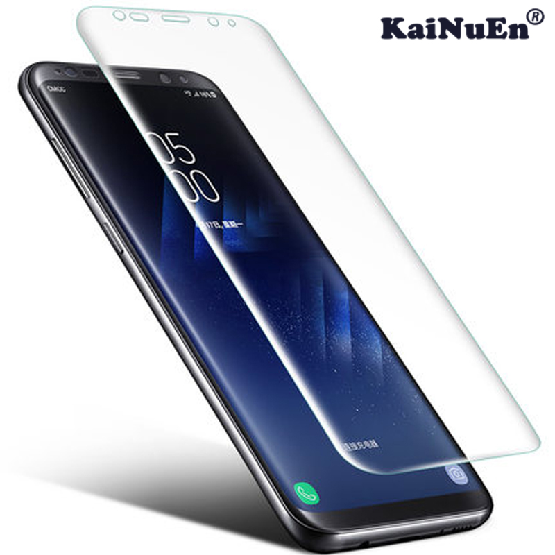 KaiNuEn 4d curved tempered glass for samsung galaxy s8 plus s 8 s8plus front anti explosion film screen proof protective 9h 3d