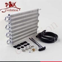 8 Row Aluminum Remote Transmission Oil Cooler/Auto-Manual Radiator Converter Kit цена и фото