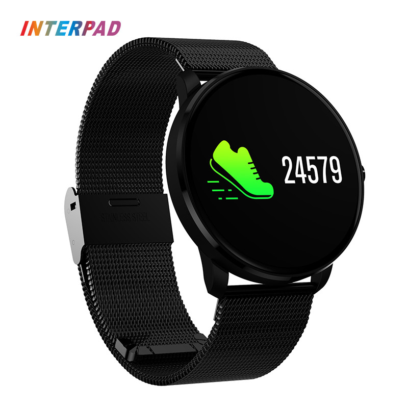 US $33 27 22% OFF|Interpad CF007 Plus Smart Bracelet Colorful Moving  Bracelet Fitness Heart Rate Weather SMS Reminder Sports Smart Wristband-in  Smart