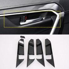 Для Toyota RAV4 2019 2020 ABS углеродного волокна салона внутренний дверные ручки Крышка декоративная отделка 5 шт