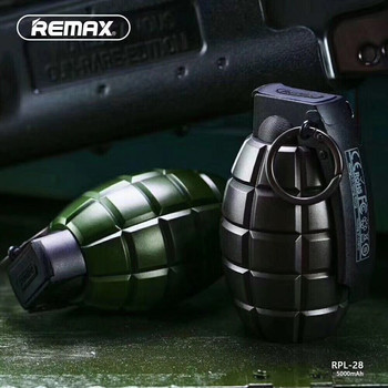 Remax 5000mah Grenade Design power bank USB Charger External Battery Portable Mobile for iPhone Mobile Phones Tablet PC usb battery bank charger