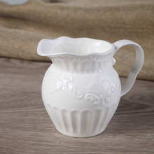 European garden French court lace butterfly relief ceramic milk cup coffee pot afternoon tea Bone China small