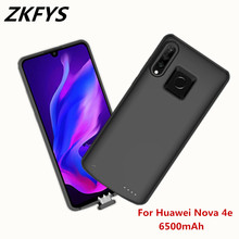 ZKFYS 6500mAh Portable High Quality Power Bank Battery Cover For Huawei Nova 4e Ultra Thin Shockproof Back Clip Case