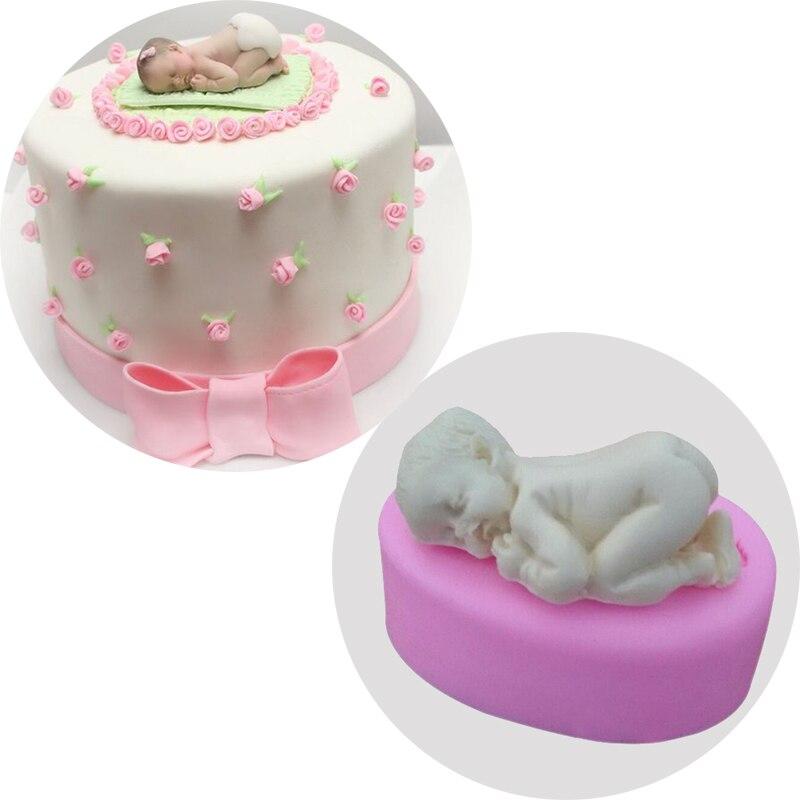 Sleep font b Baby b font Silicone Mold Chocolate Candy Jello Cake Decor Tool Silicone Fondant