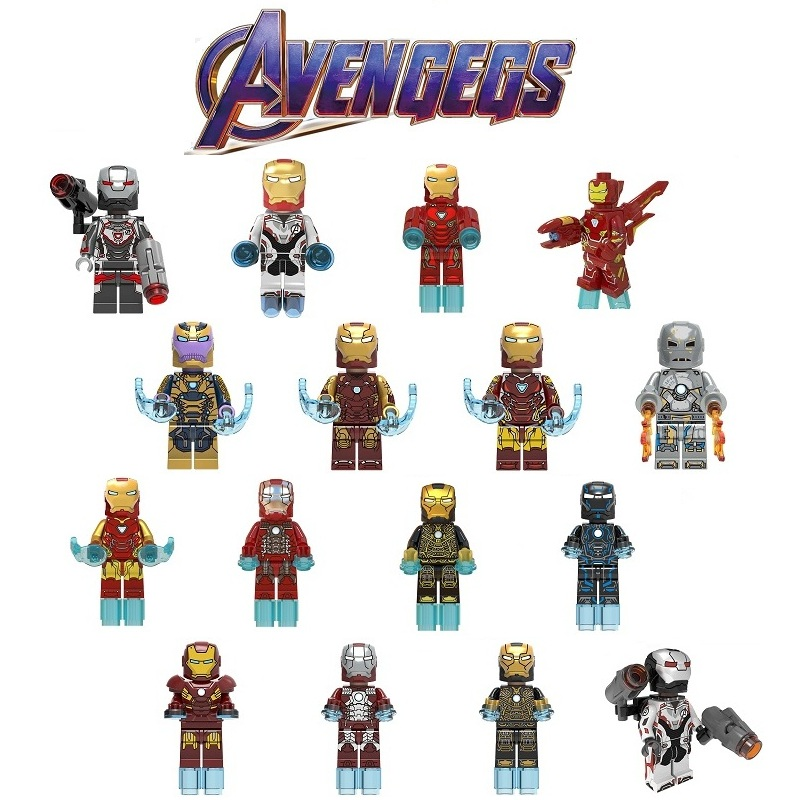 LegoING Avengers 4 Endgame Marvel Super Heroes Iron Man Playmobil Minifigured Building Blocks Model Children Gift Toys CK010