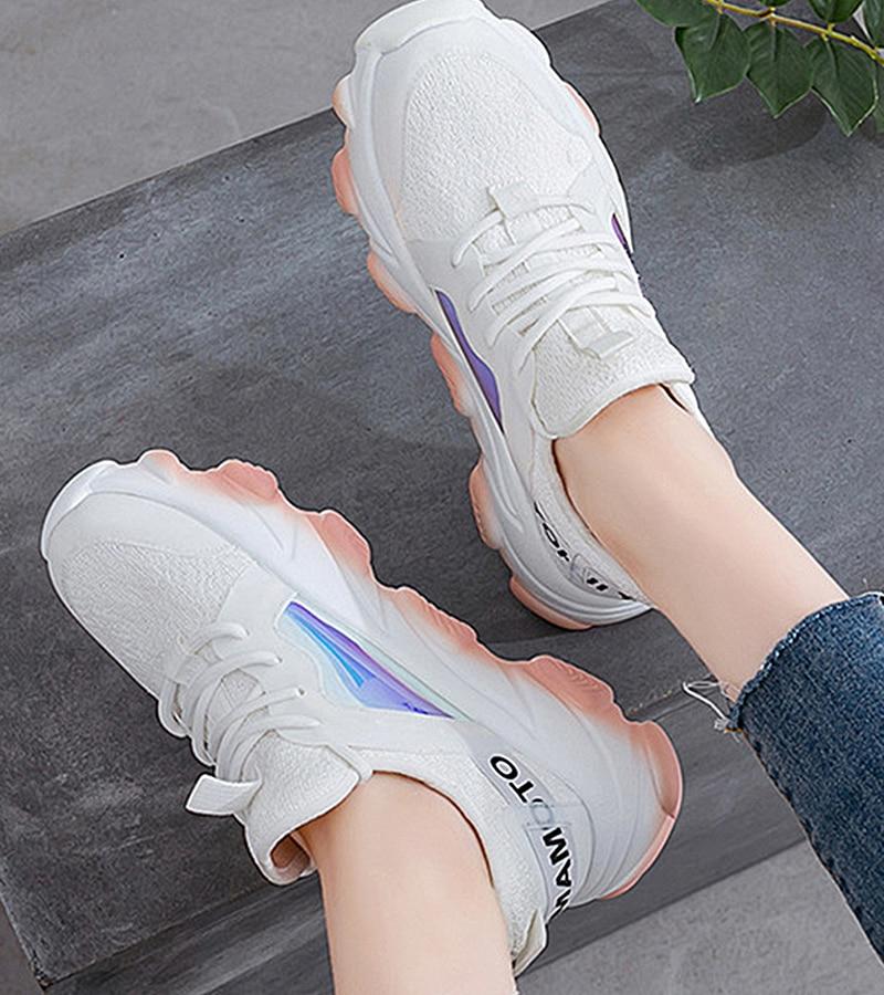 Platform sneakers women white Breathable Mesh casual shoes female new Summer Flat Women Vulcanize Shoes tenis feminino VT249 (2)
