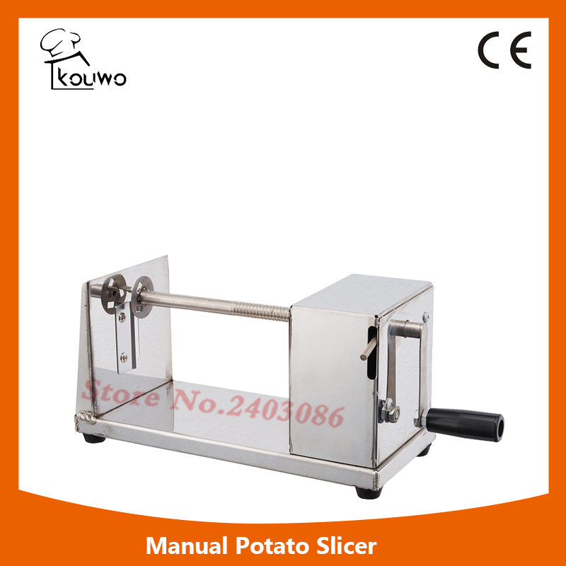Manual Stainless Steel Twisted Potato Slicer Spiral Vegetable Cutter French Fry руководство twisted картофеля фри из нержавеющей стали slicer овощей