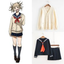 Mijn Hero Academia Cosplay Kostuum Anime Cosplay Boku geen Hero Academia Himiko Toga JK Uniform Vrouwen Sailor Suits met Truien(China)
