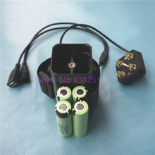 8.4V 18650*4pcs Rechargeable Lithium-ion Battery Box for Portable Power Source with 5V USB & DC 5.5*2.1 Plugs FREE Charger(China)