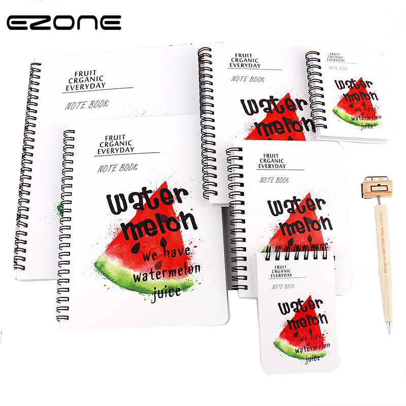 EZONE Kawaii Fruit Notebook Cute Colored Watermelon/Lemon/Banana Note Book Stationery Gift Traveler Journal Planners Spiral Memo