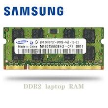 Samsung NB 1GB 2GB 4GB PC2 DDR2 667Mhz 800 Mhz 5300s 6400s Dizüstü Dizüstü Bilgisayar ram bellek 1g 2g 4g SO DIMM 667 800 Mhz