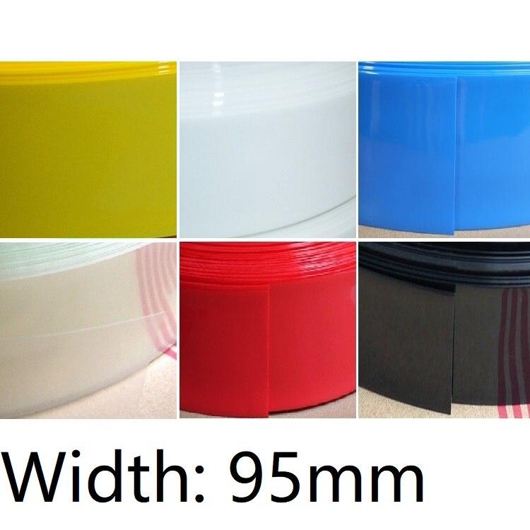 Black PVC Heat Shrink Tubing 7mm ~ 95mm lot high quality