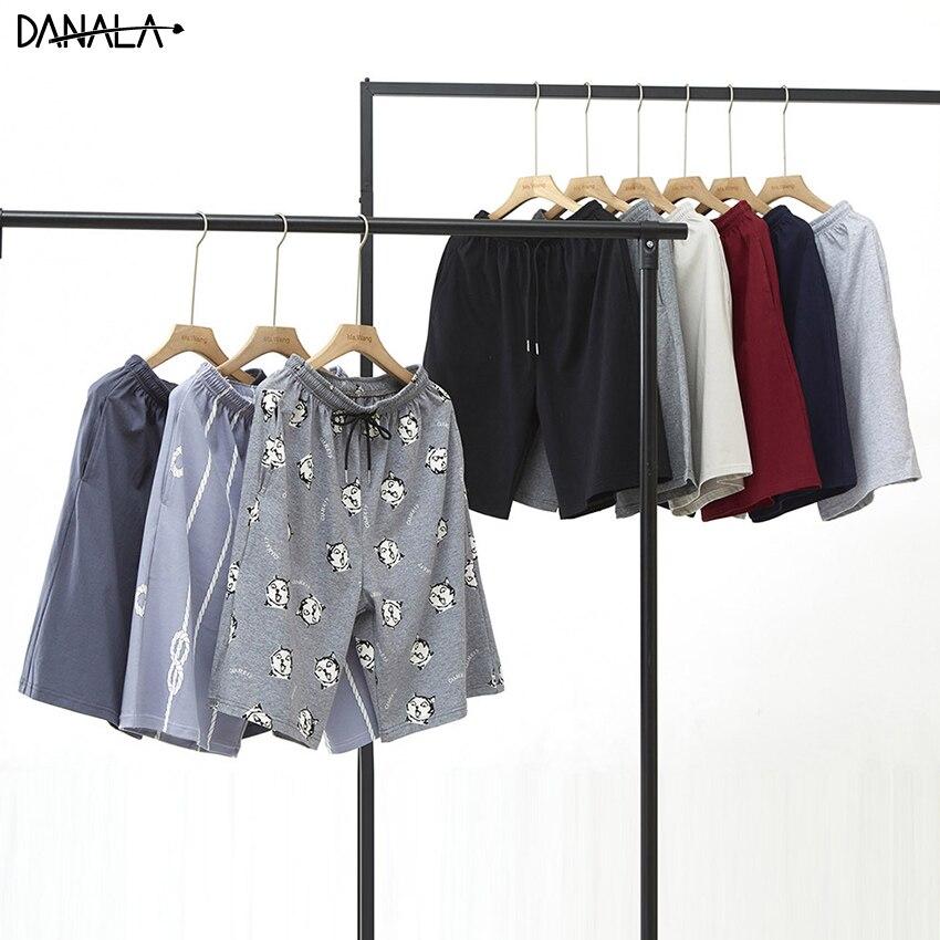 DANALA Cotton Man Sleep Bottoms Loose Comfortable Casual Animals Print Elastic Pants Man Sleepwear Home Clothes For Man