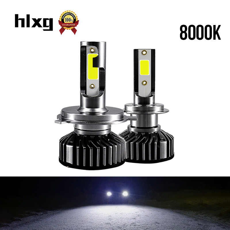 HLXG Super led h7 auto car light led headlight bulb h4 h11 hb3 hb4 h8 9005 9006 LED 12V 24v turbo automotivo lamp led far 8000k