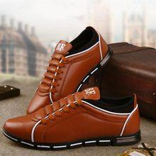 2633744ed 2018 большой размер 38-48 Мужская обувь Англия тенденция повседневная обувь  для отдыха Обувь кожаная для девочек дышащие для муж.