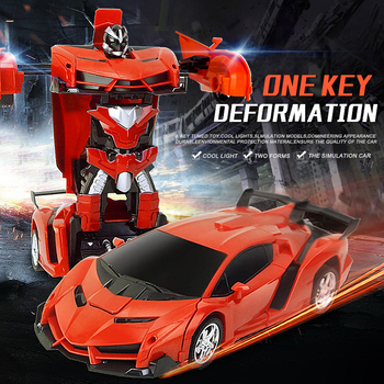 2In1 RC Car Transformation Robots Sports Vehicle Remote Control Cars Model Racing Toys Deformation Car RC Robots Children Gifts