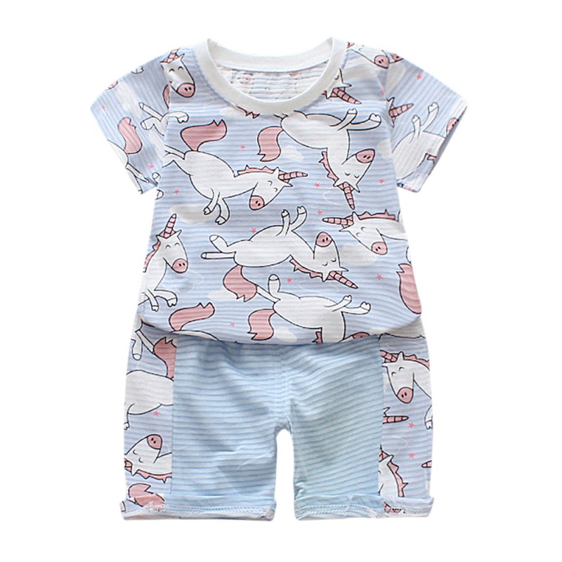 Baby Boy Clothes Cotton Baby Clothing Suit Short Shirt+Pants Kids Bodysuits Summer