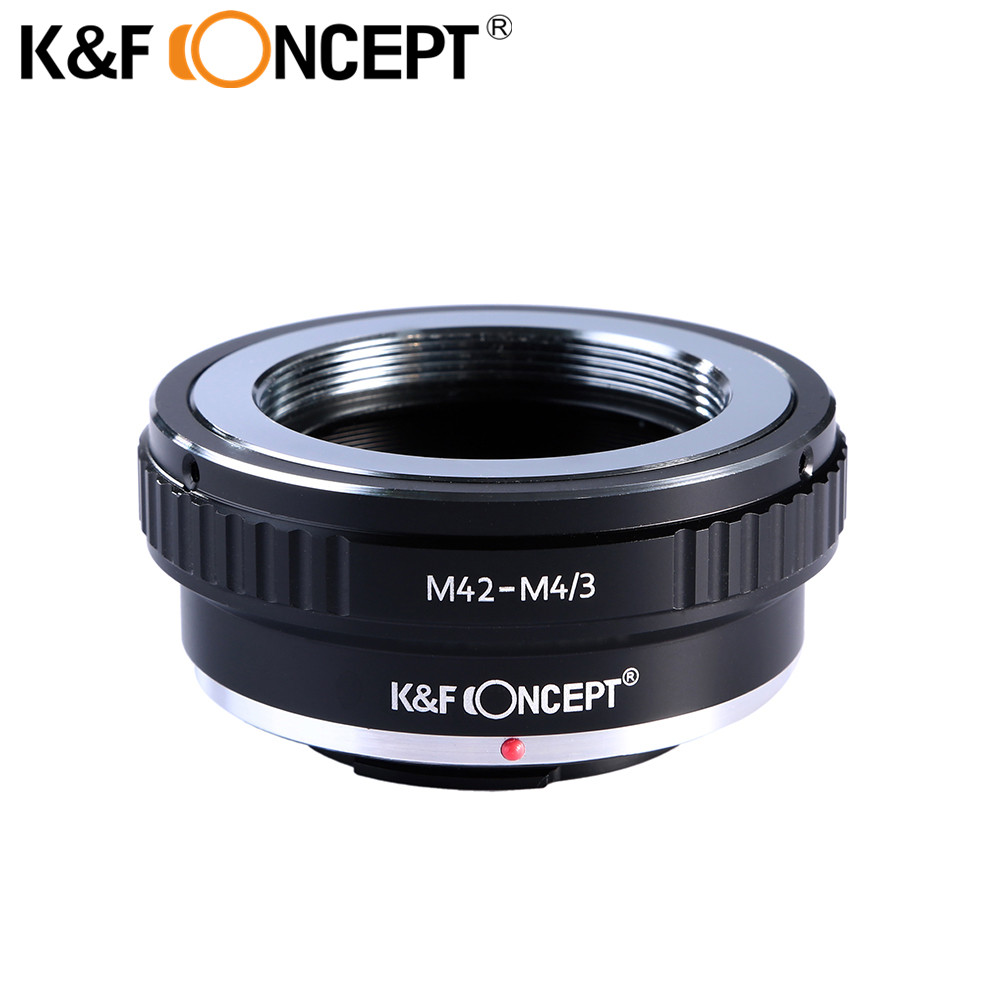 Lente de la cámara K&F CONCEPTO M42-M4 / 3 Anillo adaptador para montaje con tornillo Lente M42 encendida para Micro 4/3 M4 / 3 Cámara de montaje Olympus / Panasonic