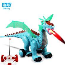 2017 New Electronic Dinosaur Roaring Walking RC Toys Electronic Pet Robot Dinosaur Toy Kids Birthday Gift