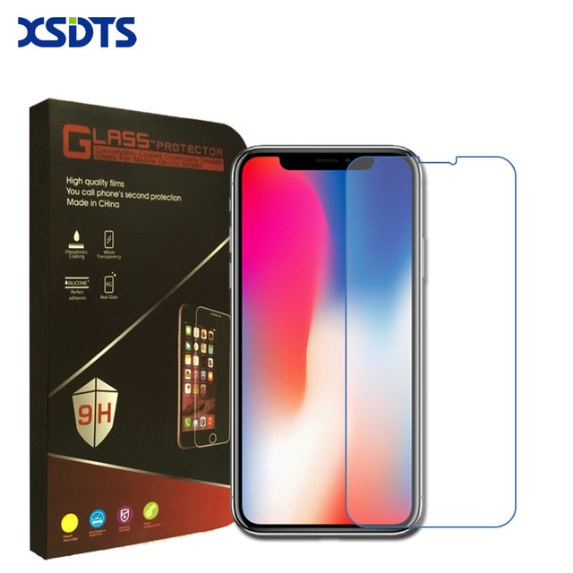 High quality For iPhone X Tempered Glass Screen Protector For iPhone 6s 7 Plus 8 Screen Protector Film SE With Retail Package