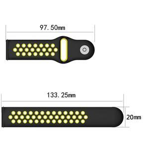 Image 5 - 20MM Neue Ersatz Riemen Zwei farbe Silikon Atmungsaktive Uhr Band Armband Für Garmin Forerunner 245 245M Smart uhr