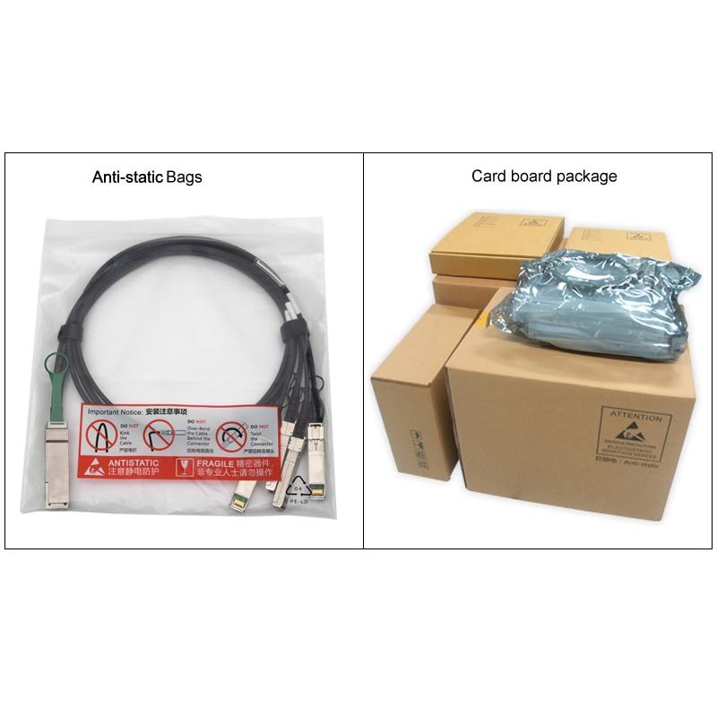 10Gtek для QSFP-4SFP10G-CU1M 1 метр 40Gb / s QSFP + да 4x - Камунікацыйнае абсталяванне - Фота 6