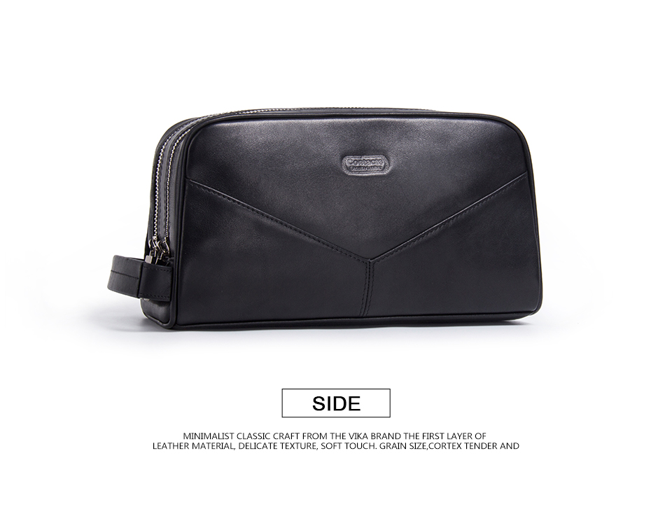 dc95a4f6486f Casual Cosmetic Bag Women Travel Makeup Case Genuine Leather Toiletry Bag  High Quality Zipper Man Travel Wash Large Capacity Makeup Train Case Cheap  ...