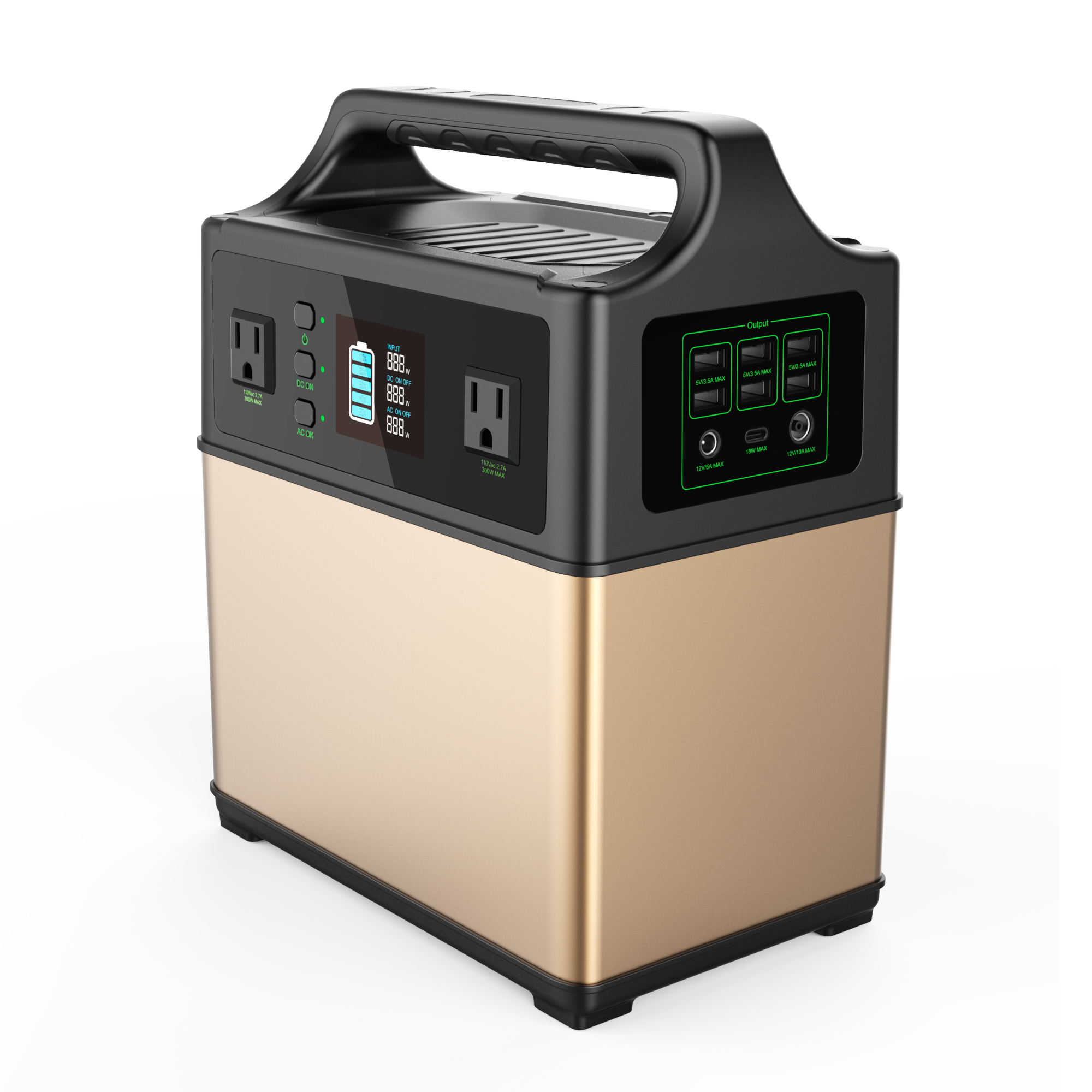 Portable Generator font b Power b font Station 400Wh Solar Generator 2AC Outlet 300W Lithium Emergency
