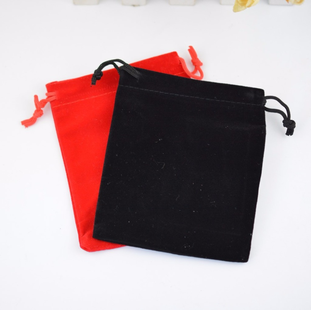 100pcs Large 10x15cm Black Soft Velvet Bag Drawstring Pouch Red Jewelry Packaging Bags for Wedding Christmas New Year Party Gift in Jewelry Packaging Display from Jewelry Accessories