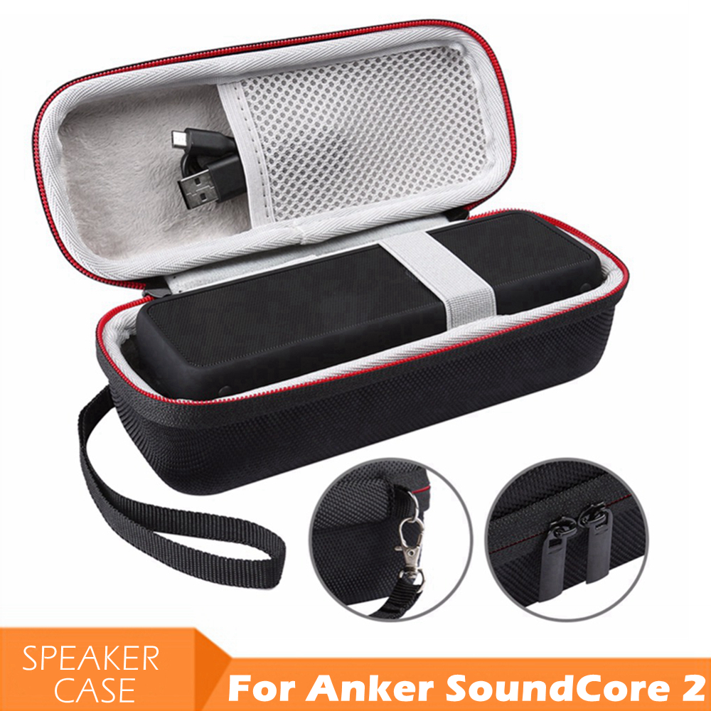 EVA Speaker Protective Case Cover Portable Carrying Storage Box Bag Pouch for ANKER SoundCore 2 Bluetooth Speakers Soundbox|Speaker Accessories| |  - title=