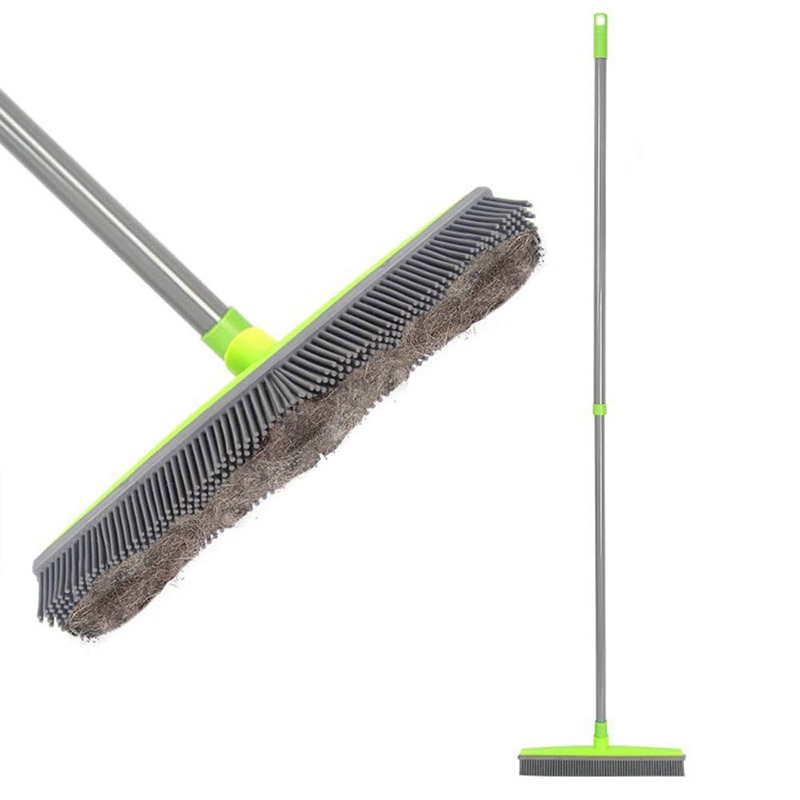 Long Push Rubber Broom Bristles Sweeper Squeegee Scratch