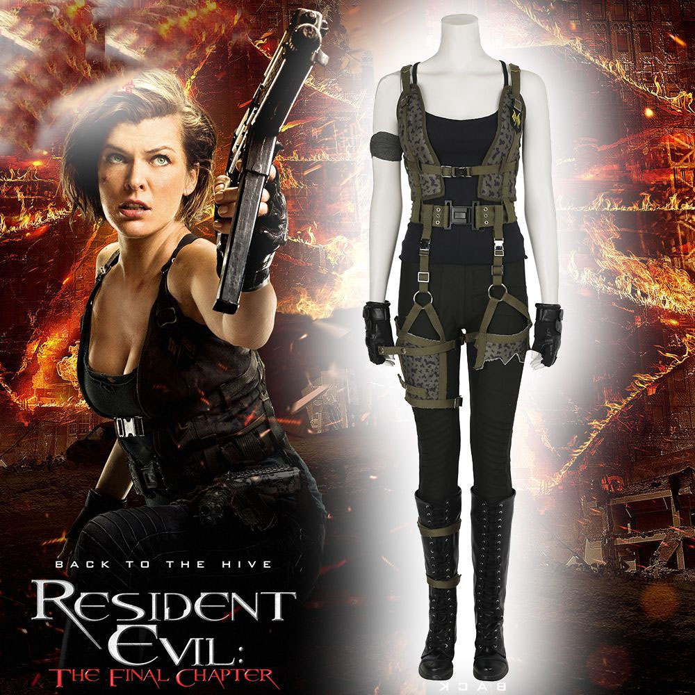 High quality  Resident Evil the Final Chapter Alice cosplay costume fancy costume cosplay Resident Evil costumes