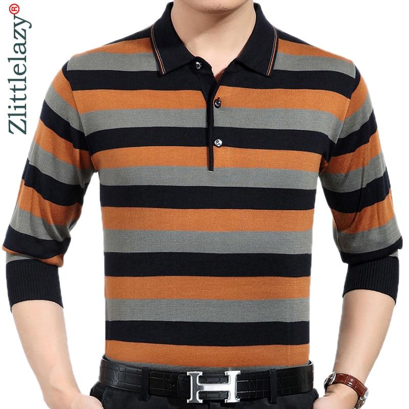 2019 brand casual spring striped long sleeve   polo   shirt men poloshirt jersey luxury mens   polos   tee shirts dress fashions 201930