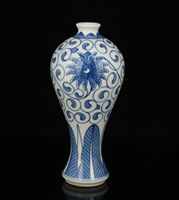 Exquisite China Old Hand painted Jingdezhen Blue And White Porcelain Vase