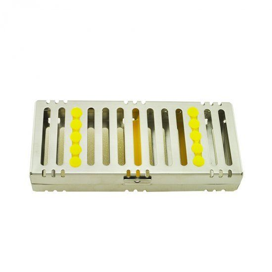 Dental Sterilization Cassette Rack Tray Box for 5 Surgical Instruments NEW dental sterilization box for gutta percha root canal file high speed bur disinfection box dental tool box disinfection box sl308
