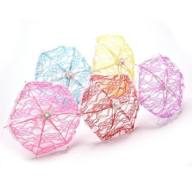 Lovely Handmade Lace Umbrella For Dolls