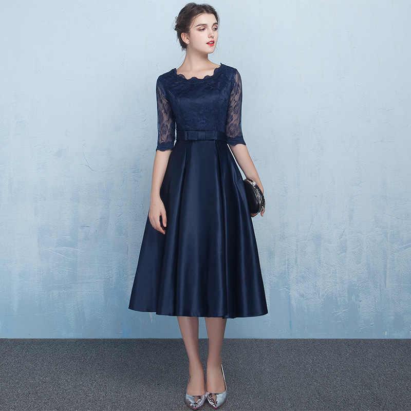 J5H4 # Navy Blue Champagne Rosso di Media Lunghezza Abiti da Promenade Del Partito Del Vestito da Sera di Stile di Promenade Dell'abito di Personalizza Il Commercio All'ingrosso Abbigliamento Donna