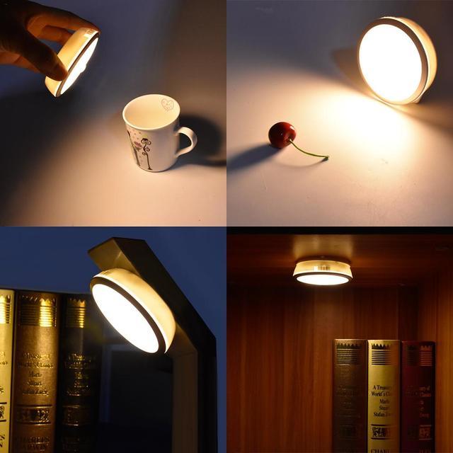 USB Rechargeable LED Sensor Under Cabinet Light 6 LEDs Magnet Kitchen Bed Wardrobe Batter Night Light LED Lights For Home